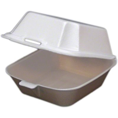 Foam Small Hinged Lid Humberger SB-5 (500 / cs)